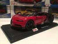 Bugatti Chiron Red / Black w/black wheels - 1:18 scale Maisto Special Edition