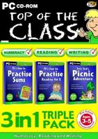NEW Top of the Class 3 in 1 Pre School 3-5 Numeracy Reading Writing PC CD-ROM