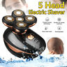 5 Heads Floating Men Electric Shaver Beard Hair Trimmer Waterproof  Razor