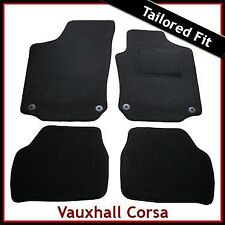 Vauxhall Corsa C 2000-2006 Tailored Fitted Carpet Car Floor Mats BLACK