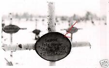16450/ Originalfoto 9x13cm, Soldatengrab Leutn. Berger J.R.32, Tortolowo, 1942
