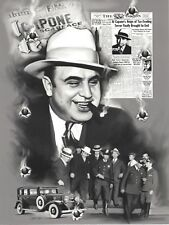 AL CAPONE COLLAGE 8X10 PHOTO MAFIA ORGANIZED CRIME MOB MOBSTER PICTURE