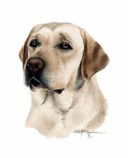 LABRADOR RETRIEVER DOG Watercolor 8 x 10 ART Print by Artist DJ Rogers
