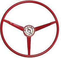 Mustang Steering Wheel Standard RED Plastic 1965 1966 65 66 Falcon Sprint 289 V8