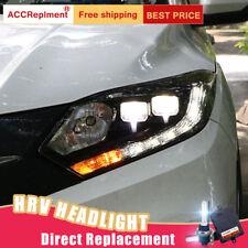 2Pcs For Honda HR-V Headlights assembly Bi-xenon Lens Projector LED DRL 16-18