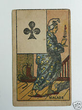 authentique et rare jeu de carte ancien la vache/tarot J.DAVID a Paris XIXe 1900