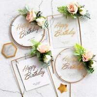 Baby Shower Cake Topper Happy Birthday Iron Acrylic Wedding Decor Party Supplies