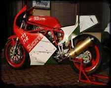 Ducati Tt2 A4 Photo Print Motorbike Vintage Aged