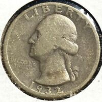 1932-D 25C Washington Quarter, KEY DATE! (56346)