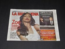 Mas Que TV Latin Magazine Dec '15 Issue NEW RARE - Zoe Saldana