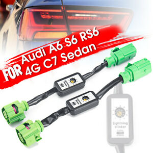 For AUDI A6 S6 RS6 4G C7 2 x Dynamic Turn Signal Indicator LED Taillight   @