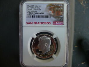 2017 s silver Kennedy half dollar NGC PF 69 Ultra Cameo Early releases (cc)