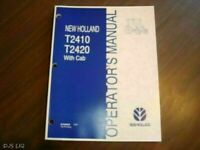 NEW HOLLAND TB120 MUDDER OPERATORS MANUAL CF59