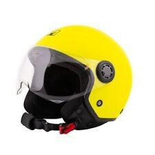 Casco Jet MPH ONE con Visiera Sagomata - giallo opaco per Moto e Scooter