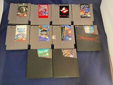 Nintendo NES Lot of 10 Games Immortal Ghostbusters Gladiators Pro AM Hollywood!