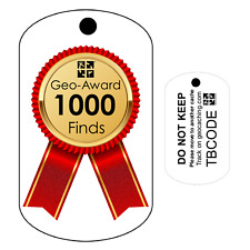1000 Finds Geo-Award  (Travel Bug) for Geocaching  Trackable Tag - Unactivated