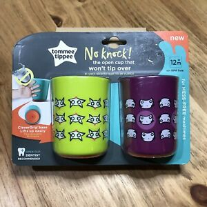 Tommee Tippee No knock Cup No Tip Over Design 2 Pack 12 mo+ Transition Cup New