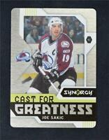 2017-18 UD Upper Deck Synergy Cast For Greatness Metal #CG-34 Joe Sakic