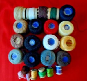VINTAGE DARNING THREAD, FINE, MIXED COLOR LOT