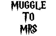 'Muggle to Mrs' (Harry Potter) iron on t shirt transfer - FREE POSTAGE