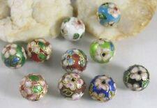 40Pcs Mixed colour cloisonne enamel round beads 13mm M2175