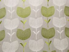 "HARLEQUIN ""LOLITA"" EMBROIDERED CURTAIN BLIND CUSHION FABRIC APPLE/LINEN 2.5m"