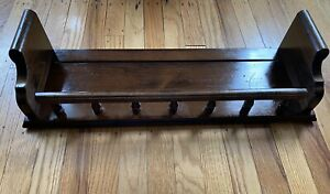 "Ethan Allen 24"" Inch Antique Tavern Pine Wall Plate Groove Curio Shelf #12-3559"