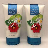 2 Bath & Body Works Beautiful Day Creamy Body Wash 8 fl.oz 236 ml