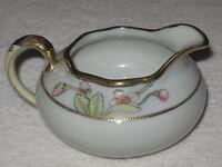 Antique/Vintage Decorative Nippon China Creamer/Pitcher - Red Flowers/Gold Trim