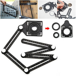 6 Folding Aluminum Alloy Six-Sided Multi-Angle Measuring Tool Ceramic Locator
