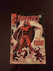 The Avengers #57 (Oct 1968, Marvel) 1st appearance Vision first appearance!!!