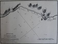 ST FRANCISCO DE PAULA OU CORRALETES ,1862, PLANS PORTS RADES MER MEDITERRANEE