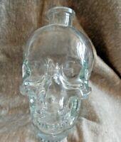 Crystal Head Vodka Bottle Clear Skull Empty Halloween Decor By Dan Akroyd 750ML