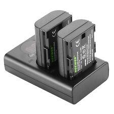 Neewer Set Batería Recargable de Cargador Batería LP-E6 Compatible con Canon