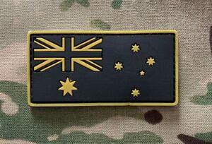 Australia, Australian Flag, Patch, PVC, Army, ADF, Black, Tan, Military, SAS,2DO
