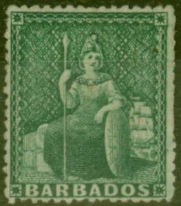 Barbados 1873 (1/2d) Green SG58 Fine Unused