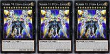 Number 93: Utopia Kaiser x 3- Handmade Yugioh Custom Cards - Orica Playset
