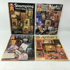 Lot 4 How-To Rubber Stamping [Stamp] Booklets Suzanne McNeill Design Originals