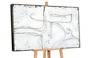 YS-Art M.Julinski Acryl Gemälde Goldene Fäden Handgemalte Bilder Leinwand MJ006