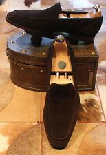 Crocket & Jones 'Douglas' brown suede loafers - 9.5 E