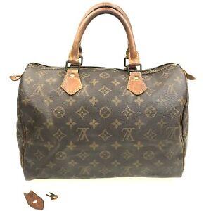 100% Authentic Louis Vuitton Monogram SPEEDY 30 Handbag M41526 [USED] {05-010B}
