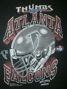 vtg THUMBS UP ATLANTA T SHIRT Falcons Football Injury MIKE UTLEY FOUNDATION XL