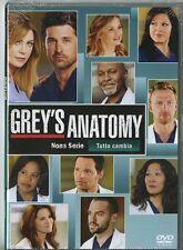 Grey's Anatomy - Serie TV - 9^ Stagione - Cofanetto Con 6 Dvd - Nuovo Sigillato
