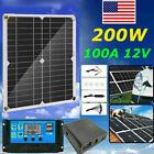 200W Solar Panel Kit 12V battery Charger 100A Controller Caravan Boat US Stock