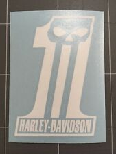 Harley Davidson One Sticker Gloss White Vinyl Avery Graphics