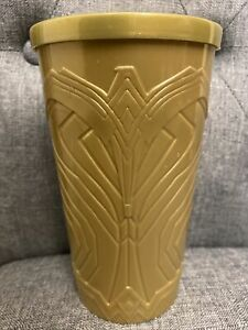 Wonder Woman 1984 2020 Movie Theater Exclusive GOLD 4D Plastic Cup & Lid - RARE!