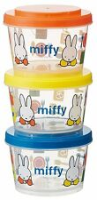 Miffy Microwave Safe Tupperware Lunch Container 240ml x 3 Made in Japan