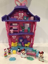 Minnie Mouse Polka Dot Pajama Party Bow Dollhouse Fisher Price Furniture Daisy