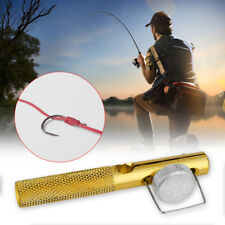 Aluminum Alloy Fishing Tied Hook Needle Manual Dual Tools Accessory Portable