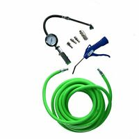 """Euro Fittings 15m Air Line Hose 1/4"""" BSP Thread With Tyre Inflator & Blow Gun"""